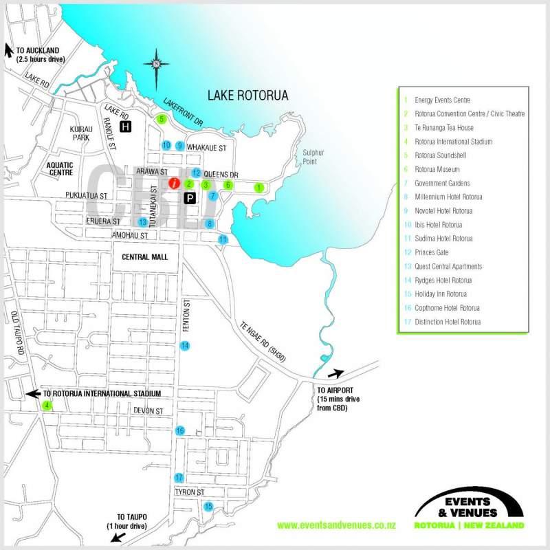 Rotorua New Zealand Map.Rotorua Destination