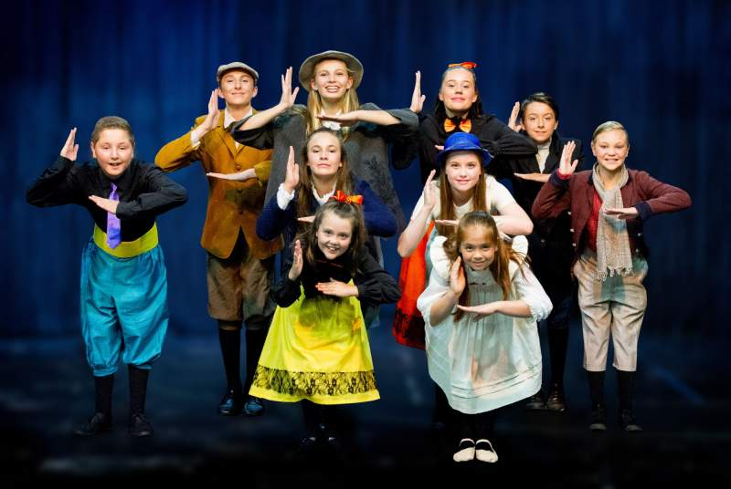 Mary Poppins   Childrens Ensemble. Photo by Fotozone Photography